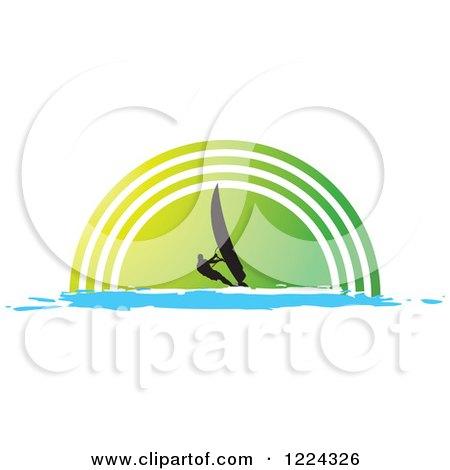 Half Circle Clipart Over a Green Half Circle