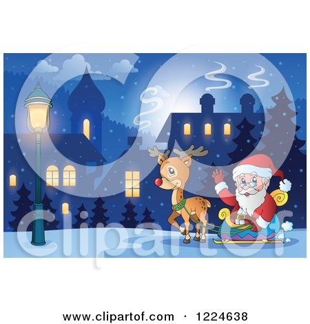 Royalty Free RF Rudolph Clipart Illustrations Vector