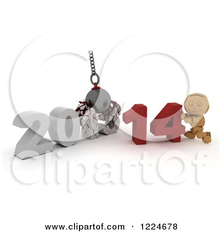Clipart 3d Cardboard Box Man Resting A Hand On A Globe - Royalty ...