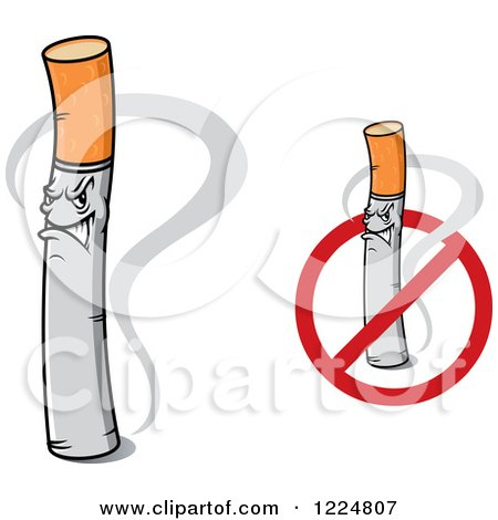Angry Cigarette Characters Posters, Art Prints