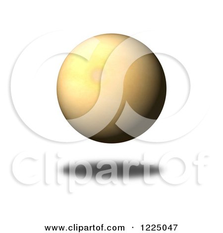 Clipart of a 3d Floating Vintage Paper Sphere - Royalty Free Illustration by oboy