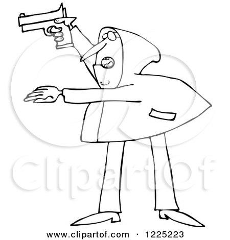 Royalty free gun illustrations by djart page 1 Coloring book hoodie
