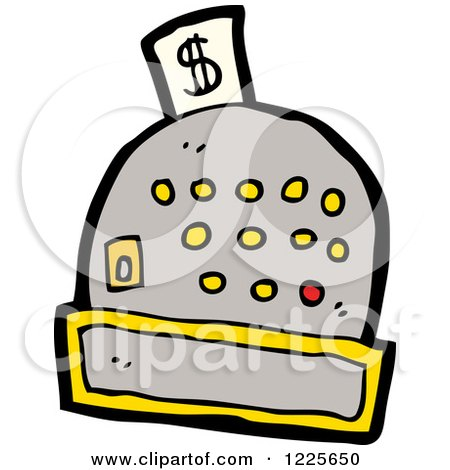 Clipart of a Cash Register - Royalty Free Vector Illustration by lineartestpilot