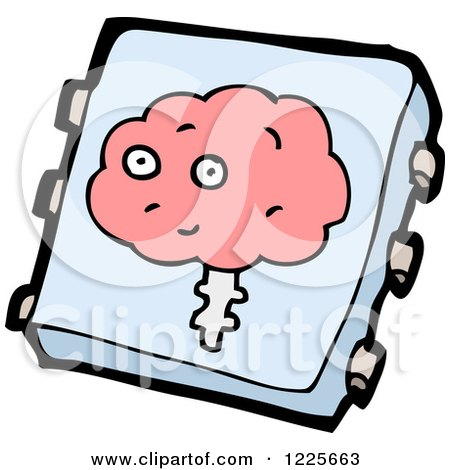 Clipart of a Brain Implant Chip - Royalty Free Vector Illustration by lineartestpilot