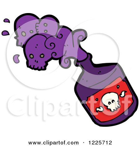 Clipart of a Poison Bottle - Royalty Free Vector Illustration by ...