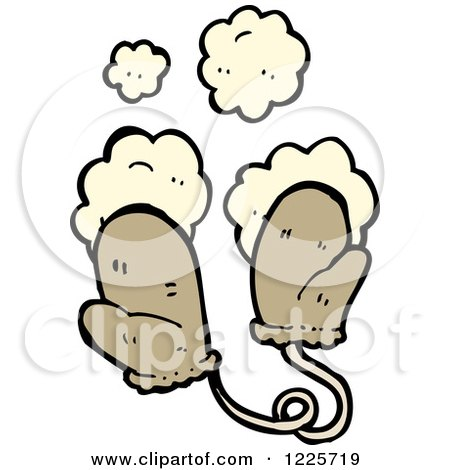 Clipart of Dusty Mittens - Royalty Free Vector Illustration by lineartestpilot