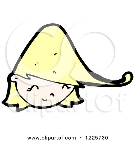 Clipart of a Happy Blond Girl - Royalty Free Vector Illustration by lineartestpilot