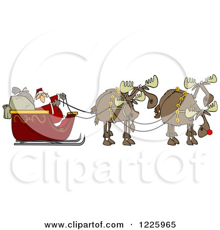 Royalty-Free (RF) Christmas Moose Clipart, Illustrations, Vector ...
