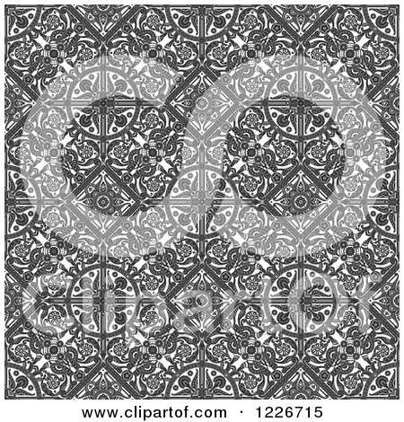 Clipart of a Seamless Vintage Intricate Middle Eastern Motif Background Pattern - Royalty Free Vector Illustration by AtStockIllustration