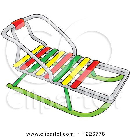 Clipart of a Traditional Sled - Royalty Free Vector Illustration by Alex Bannykh