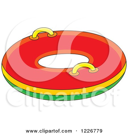 Clipart of a Snow Inner Tube - Royalty Free Vector Illustration by Alex Bannykh