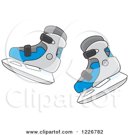 Clipart of Ice Skates - Royalty Free Vector Illustration by Alex Bannykh