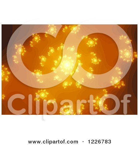 Clipart of a Golden Fractal Spiral - Royalty Free Illustration by oboy