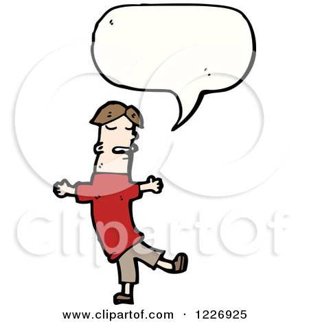 Clipart of a Talking Man - Royalty Free Vector Illustration by lineartestpilot