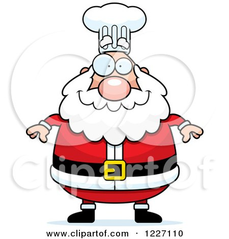 Clipart of a Happy Chef Santa - Royalty Free Vector Illustration by Cory Thoman