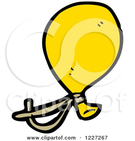 Clipart of a Yellow Party Balloon - Royalty Free Vector Illustration by lineartestpilot