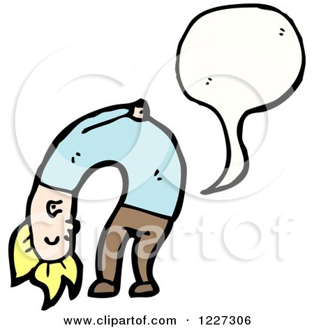 Clipart of a Man Bending over and Farting - Royalty Free Vector Illustration by lineartestpilot