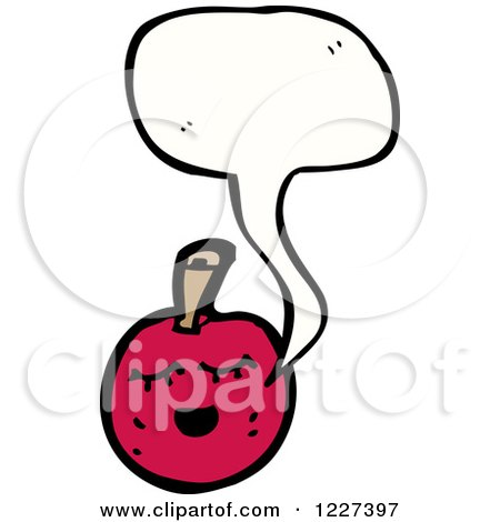 Clipart of a Talking Cherry - Royalty Free Vector Illustration by lineartestpilot