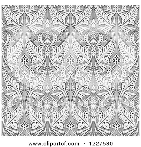 Clipart of a Ornate Gray Seamless Islamic Pattern Background - Royalty Free Vector Illustration by AtStockIllustration