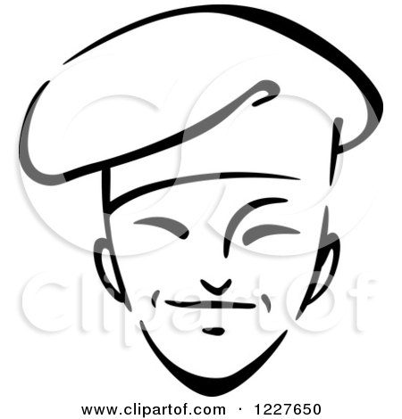 Clipart of a Black and White Male Asian Chef 2 - Royalty Free Vector Illustration by Vector Tradition SM
