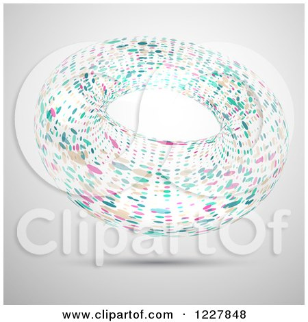 Floating Abstract Colorful Ring over Gray Posters, Art Prints