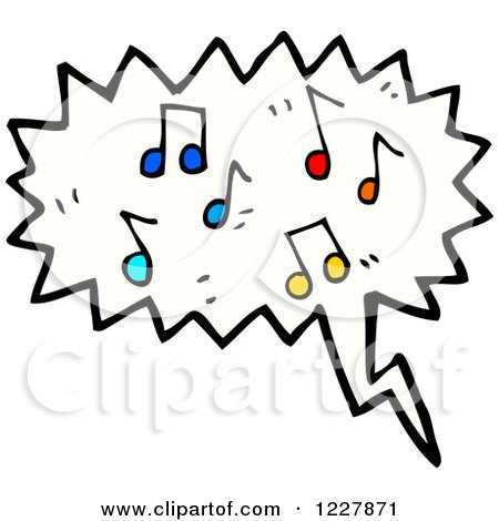 Clipart of a Cloud of Music Notes - Royalty Free Vector Illustration by lineartestpilot