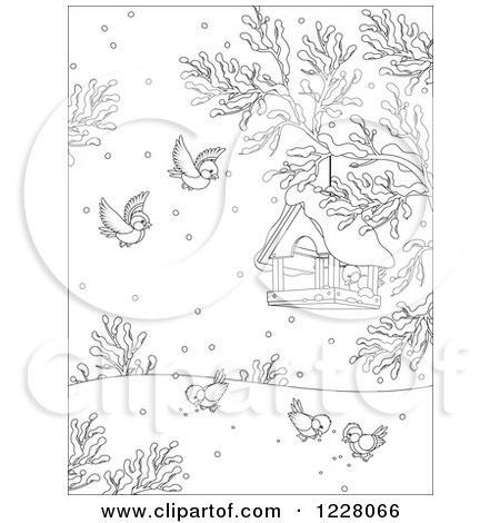 Royalty Free RF Bird Feeder Clipart Illustrations