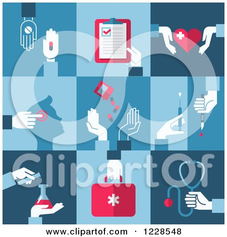 Clipart of Medical and Pharmaceutical Icons - Royalty Free Vector Illustration by elena