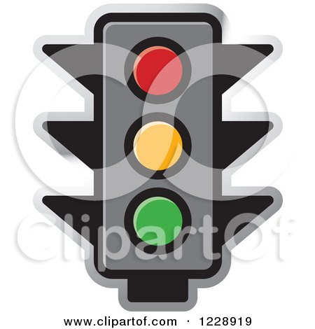 Clipart of a Traffic Stop Light Icon - Royalty Free Vector Illustration by Lal Perera
