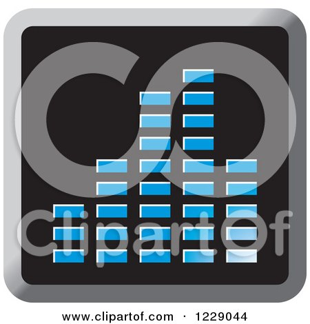 Clipart of a Blue Music Equalizer Icon - Royalty Free Vector Illustration by Lal Perera