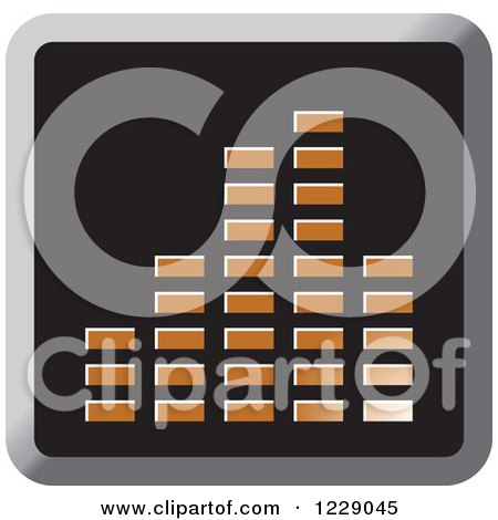 Clipart of a Brown Music Equalizer Icon - Royalty Free Vector Illustration by Lal Perera