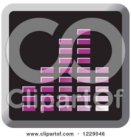 Clipart of a Purple Music Equalizer Icon - Royalty Free Vector Illustration by Lal Perera