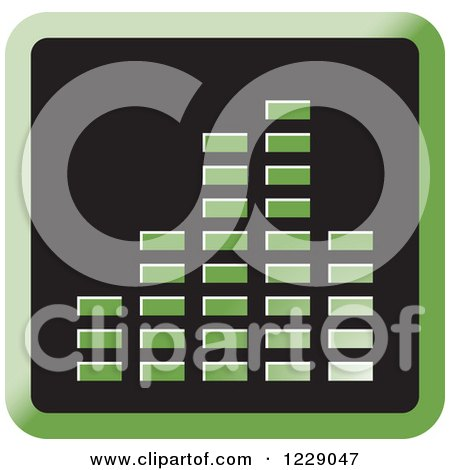 Clipart of a Green Music Equalizer Icon - Royalty Free Vector Illustration by Lal Perera