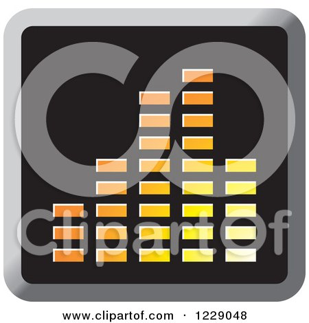 Clipart of a Yellow and Orange Music Equalizer Icon - Royalty Free Vector Illustration by Lal Perera