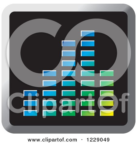 Clipart of a Colorful Music Equalizer Icon - Royalty Free Vector Illustration by Lal Perera
