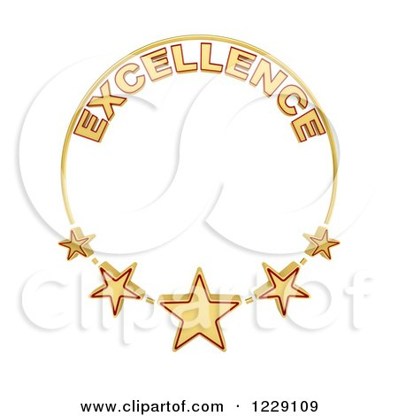 Clipart of a Five Star of Excellence Award - Royalty Free Illustration by stockillustrations
