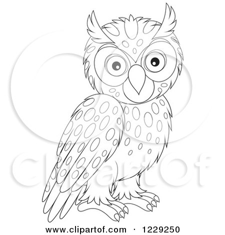 Clipart Illustration Of A Cute Brown Owl In Flight
