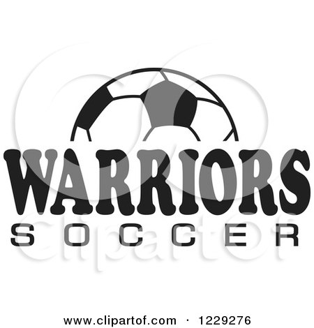 Clipart Of A Black And White Ball And Soccer Text