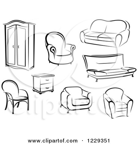 Royalty Free Rf Clipart Of End Tables Illustrations