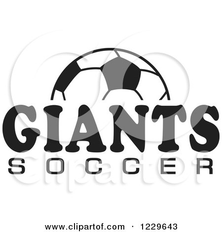 Clipart of a Black and White Ball and GIANTS SOCCER Team Text - Royalty Free Vector Illustration by Johnny Sajem