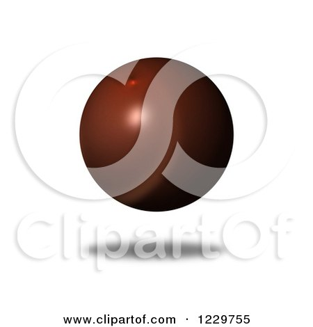 Clipart of a 3d Floating Brown Globe - Royalty Free Illustration by oboy