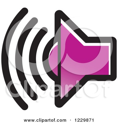 Clipart of a Purple Speaker Icon - Royalty Free Vector Illustration by Lal Perera
