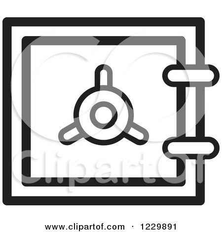 Black and White Safe Vault Icon Posters, Art Prints