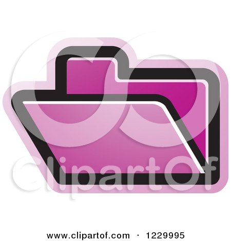 Clipart of a Purple File Folder Icon - Royalty Free Vector Illustration by Lal Perera