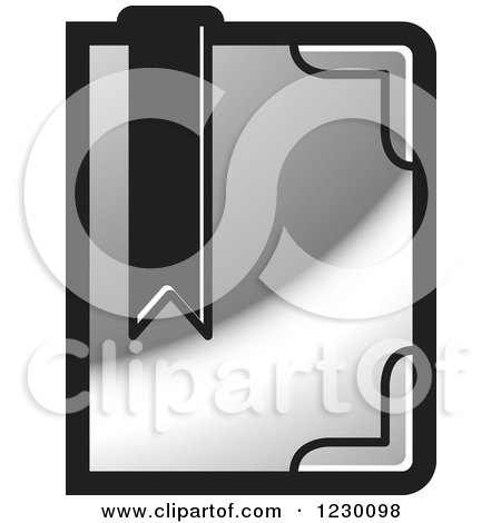 Clipart of a Round Blue Library Book Icon - Royalty Free Vector ...