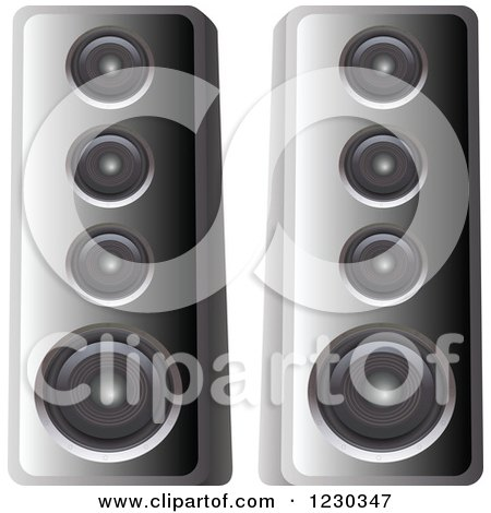 Clipart of Computer Speakers - Royalty Free Vector Illustration by dero