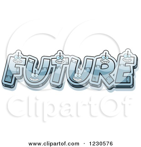 Clipart of Robot Letters Forming the Word FUTURE - Royalty Free Vector Illustration by Cory Thoman
