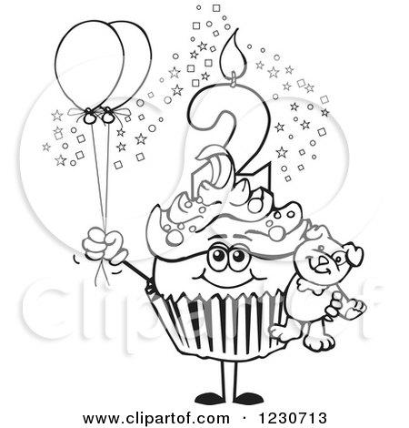 Royalty-Free (RF) 2nd Birthday Clipart, Illustrations, Vector ...