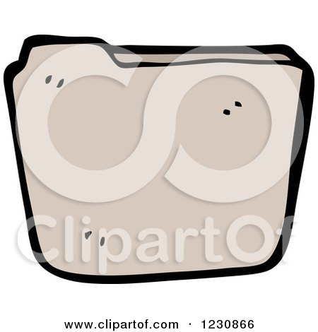 Clipart of a Brown File - Royalty Free Vector Illustration by lineartestpilot