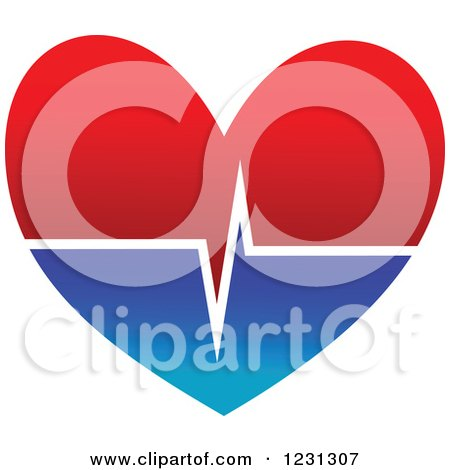 Clipart of a Medical Cardiogram Heart - Royalty Free Vector Illustration by Vector Tradition SM